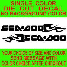 2x Sea Doo Watercraft Die Cut Vinyl Decal Truck Boat Window Sticker Reproduction Ebay