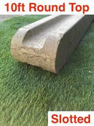 10ft 3000mm Premium Concrete Slotted Post Round Top
