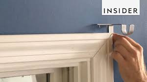 hang curtains without holes in the wall
