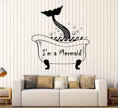 Vinyl Wall Decal Mermaid Tail Vintage Bath Style Funny Quote Stickers Wallstickers4you