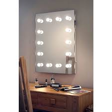 wallmount hollywood makeup mirror with