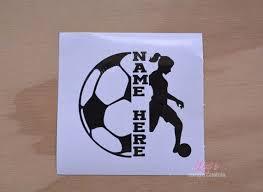 Soccer Decal Split Name Decal Vinyl Sticker Yeti Soccer Etsy Vinyl Vinyl Sticker Firefighter Stickers