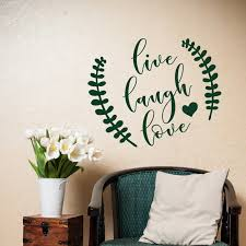 Live Laugh Love Wall Decal Family Wall Decal Wall Decal Etsy