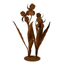 s679 large iris garden sculpture