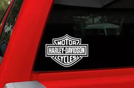 Collectibles Transportation Harley Davidson Logo Rear Window White Vinyl Decal Sticker Truck Car Trailer Rv Transportation Zsco Iq