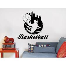 Shop Basketball Player Sport Game Boy Room People Home Kids Nursery Baby Room Bedroom Sticker Decall Size 44x52 Color Black Overstock 14218559