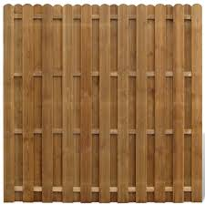 High Quality Vertical Wooden Hit Miss Fence Panel From Tomtop Com Fence Panels Garden Fence Panels Wooden Fence Panels