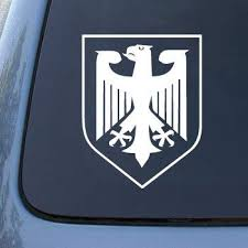 Amazon Com Germany Crest Car Truck Notebook Vinyl Decal Sticker 2067 Vinyl Color White Automotive