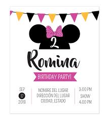 Invitacion Cumpleanos Minnie Fiesta Disenos Personalizados
