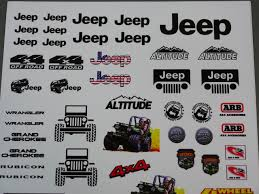 1 10 Jeep Rock Crawling Decals Stickers Sheet