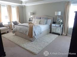 bedding choices and the rug over carpet