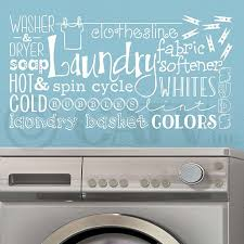 Laundry Room Collage Wall Saying Vinyl Lettering Decal Sticker 16 5 H X32 W White Walmart Com Walmart Com