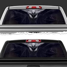 Amazon Com Siminola Superhero Batman Dark Knight Perforated Film Car Accessories Truck Window Wrap Car Truck Decal Car Idea Suv Decal For Truck N533 Frst 29 X 66 Sports Outdoors