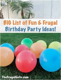 fun frugal birthday party ideas