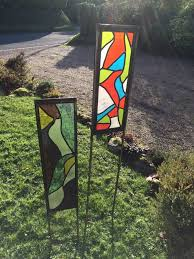 sculpture glass garden panels