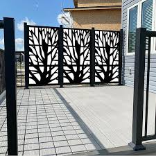 6 Ft H X 4 Ft W Metal Fencing In 2020 Metal Fence Panels Metal Fence Fence Design