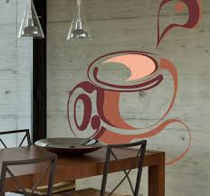 Abstract Coffee Cup Wall Sticker Tenstickers
