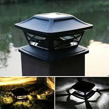 Solar Led Crackle Glass Ball Post Garden Deck Cap Light Square Outdoor Lights 15 95 Picclick Uk