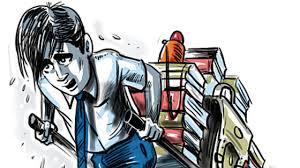 Image result for heavy school bags  children cartoon