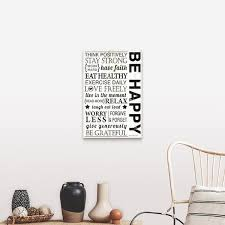 Shop Be Happy Canvas Wall Art On Sale Overstock 16891997