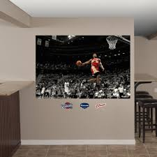 Shop Fathead Lebron James Throwback Slam Dunk Mural Wall Decals Overstock 9536358