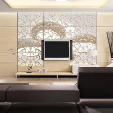 32pcs Diy 3d Acrylic Modern Mirror Decal Mural Wall Sticker Home Decor Removable Wall Stickers Home Decor Wall Stickers Home Mirror Decal
