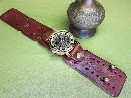 cuff strap mens leather watch strap