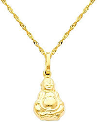 jewelry center 14k yellow gold buddha