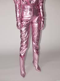 lvr exclusive lamé leather pants