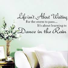 hidup ini bukan tentang menunggu inspirational quotes removable