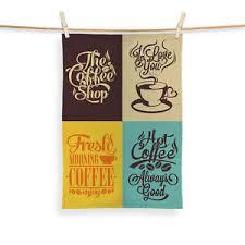 coffee quotes v tea towel microfibre x coffee shop cafe