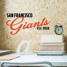 Amazon Com Sf Giants Wall Art Logo San Francisco Baseball Decorations Sports Team Athlete Bedroom Decor Vinyl Wall Decal Mlb Wall Decals For Bedrooms Playroom Dorm Or Home