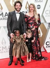 CMA Awards 2019: Thomas Rhett, Lauren Akins, Kids Hit Red Carpet