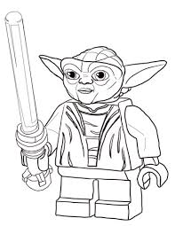 Lego Star Wars Master Yoda Kleurplaat Gratis Kleurplaten Printen