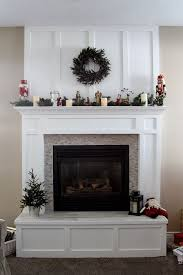 fireplace mantle redo in time for