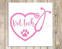 Vet Tech Car Decal Etsy