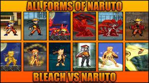 All Naruto Forms - Bleach Vs Naruto 3.3 (Modded) - YouTube