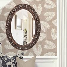 oval antique bronze wall mirror astoria