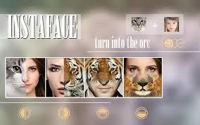 Instaface Face Eyes Morph برنامج تركيب وجوه الحيوانات على الصور