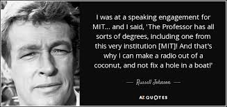 TOP 5 QUOTES BY RUSSELL JOHNSON | A-Z Quotes