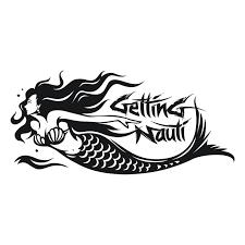Mermaid Vinyl Decal Getting Nauti