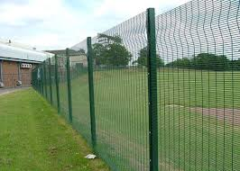 Trade Assurance Pvc Coated V Pressed Welded Wire Mesh Fence Panel In 6 Gauge