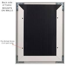 8 5x11 slide in frame sign holder black