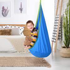 Costway Child Pod Swing Chair Tent Nook Indoor Outdoor Hanging Seat Hammock Kids Walmart Com Walmart Com
