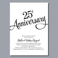 25 anniversary invitation cards matter