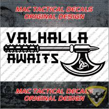 Mac Tactical Decals Valhalla Awaits Decal