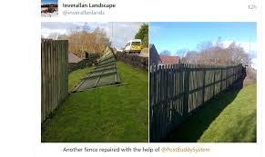 Gaby Post Buddy On Twitter Great Before And After Photos Sent By A Happy Customer Sorry Not The Best Quality Yes Post Buddy Will Fix A Fence As Badly Damaged As