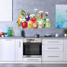 Smiling Vegetables Wall Decal Style And Apply