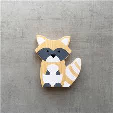 Lovely Wooden Fox Kids Room Ornament Photograph Prop Home Desk Bookshelf Decor Wish
