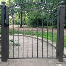 China Aluminum Gate Steel Single Door Aluminum Slat Fence Gate Walk Way Single Gate Door China Gate Door